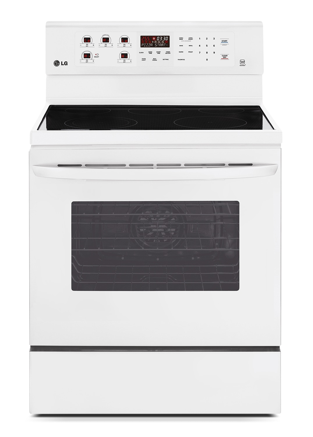 Cooking Products - LG Appliances White Freestanding Electric Convection Range (6.3 Cu. Ft.) - LRE6383SW