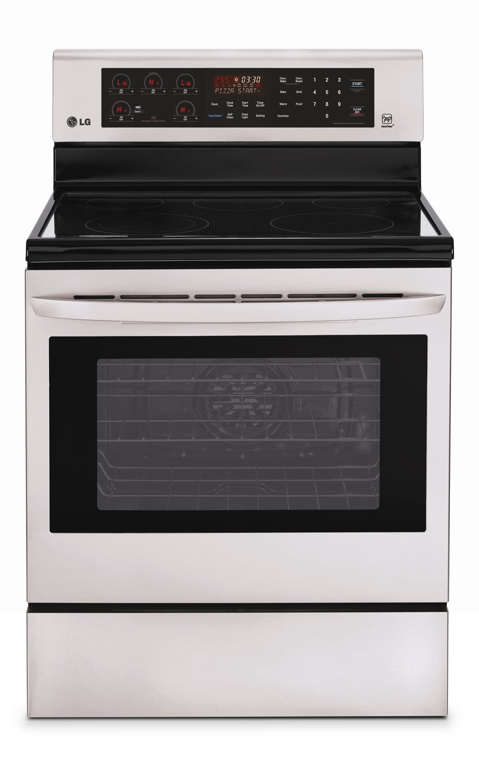 Cooking Products - LG Appliances Freestanding Stainless Steel Electric Convection Range (6.3 Cu. Ft.) - LRE6383ST