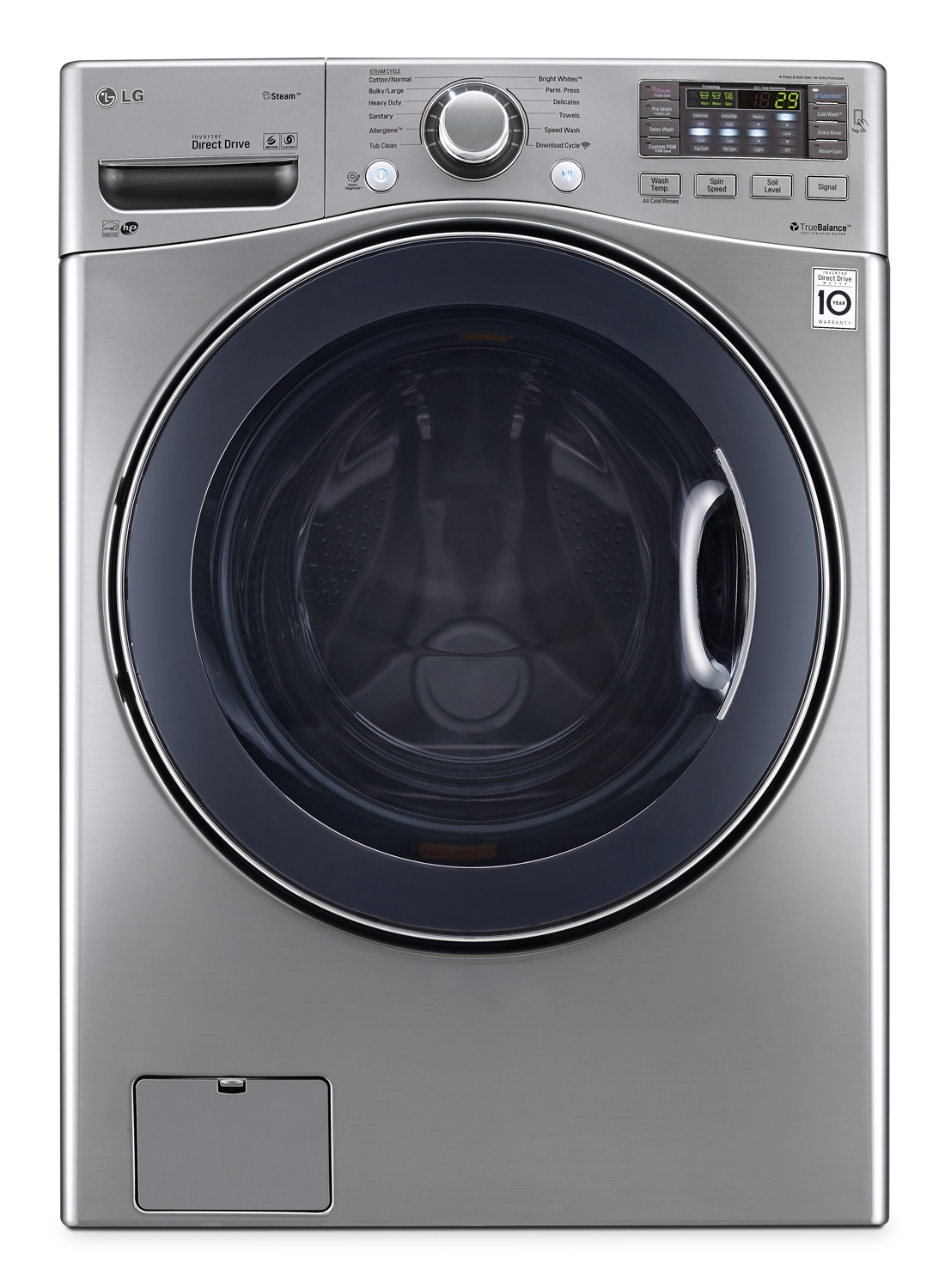 Washers and Dryers - LG Appliances Stainless Steel Front-Load Washer (5.0 Cu. Ft.) - WM3570HVA