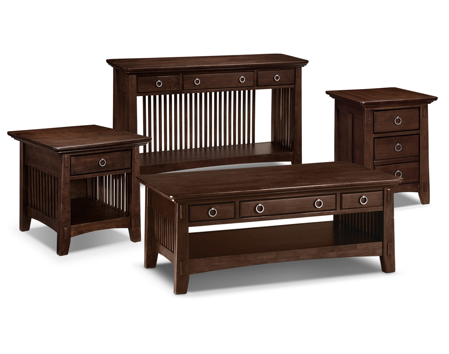 The Arts Crafts Collection Chocolate American Signature Furniture