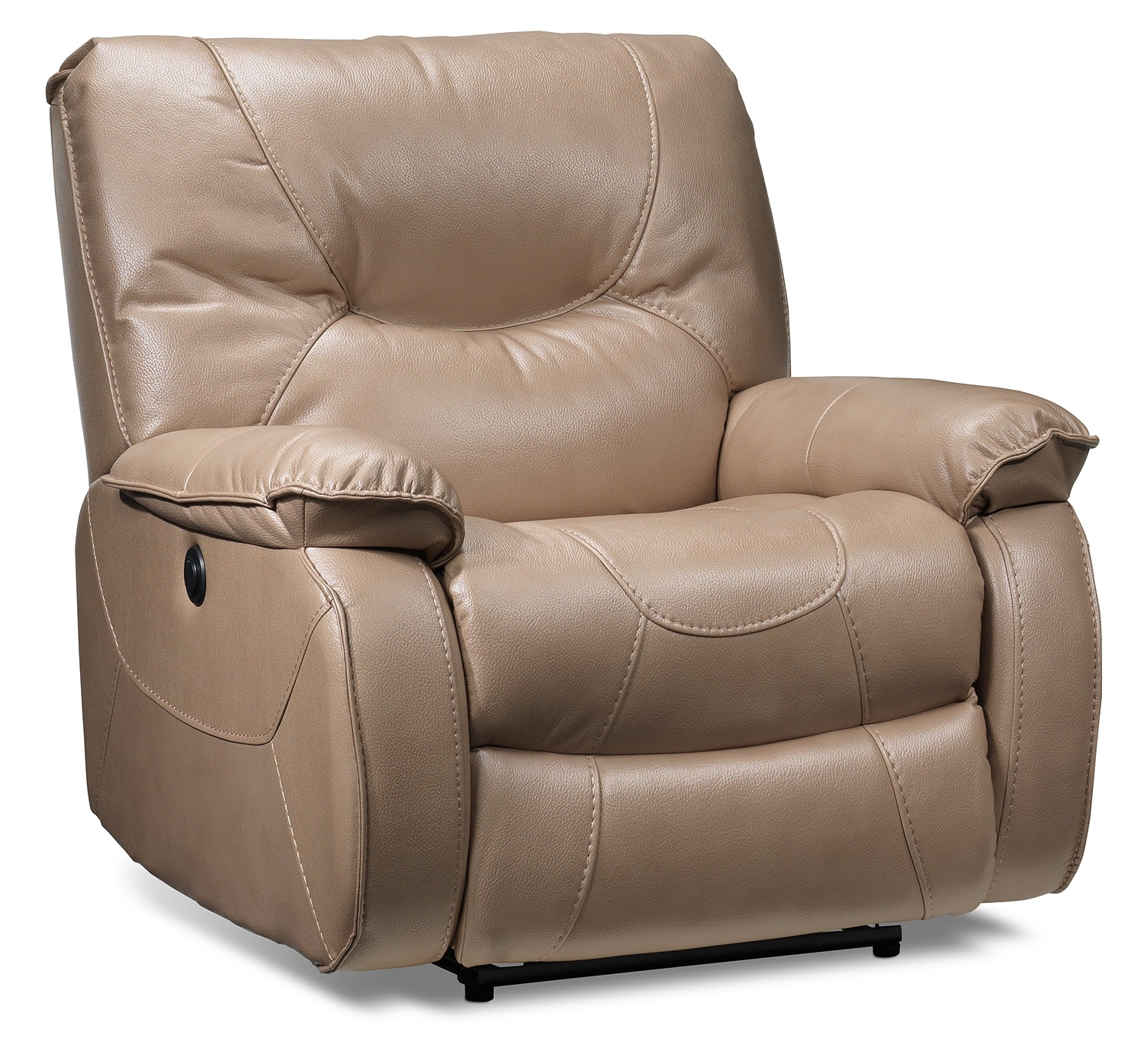 Living Room Furniture - Canton Power Recliner - Taupe
