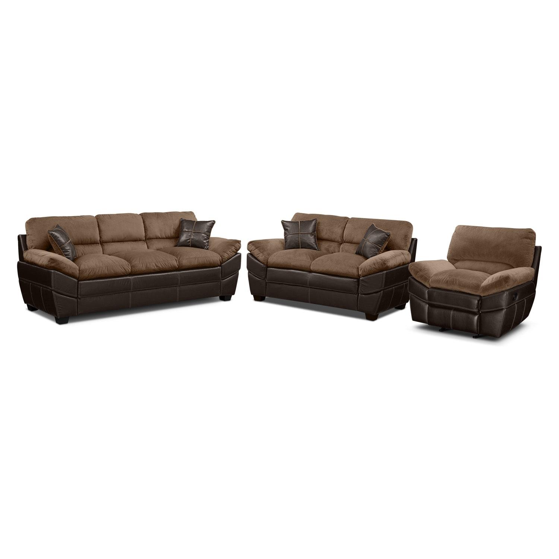 [Chandler Beige 3 Pc. Living Room]