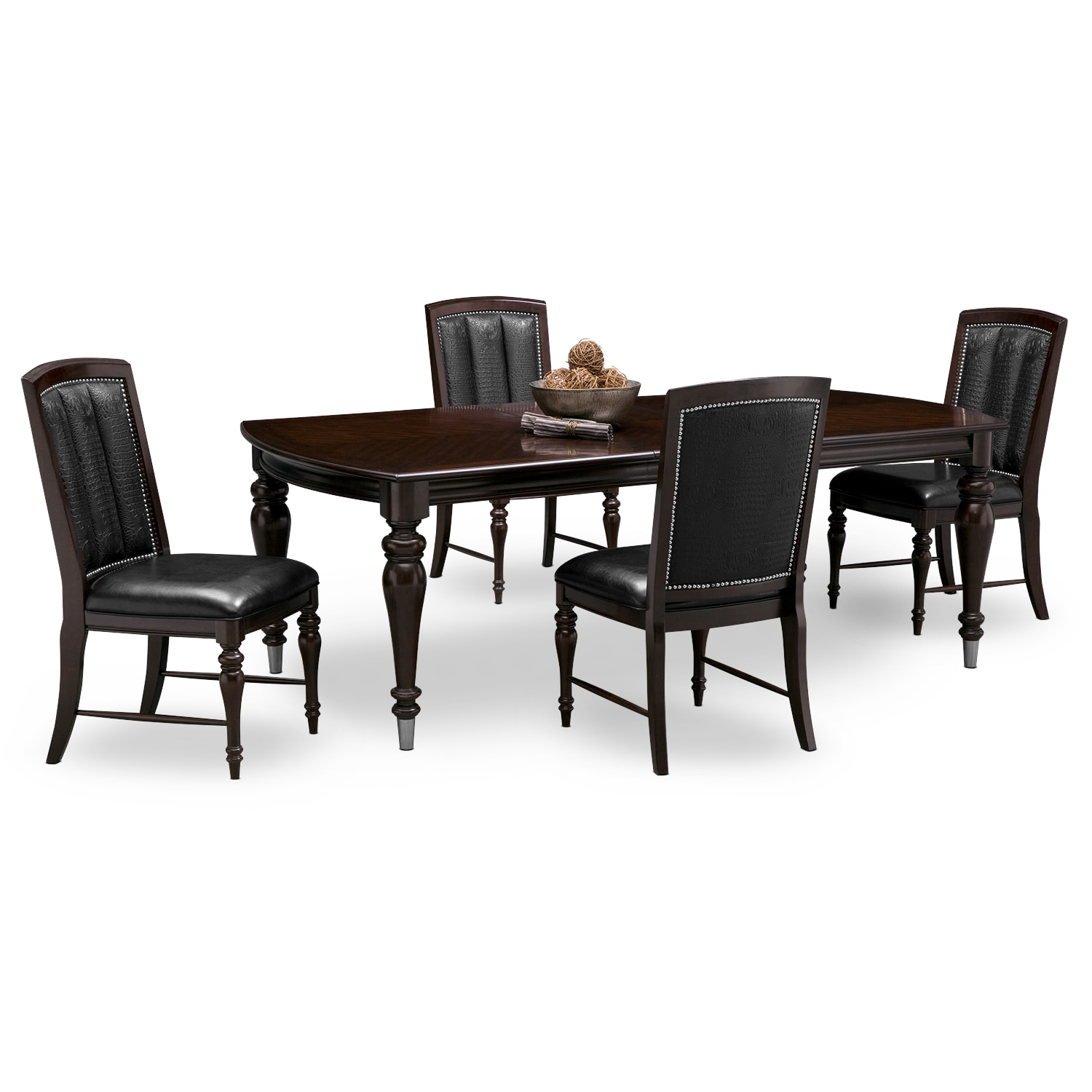 Esquire table and 4 chairs cherry american signature for Cherry dining room chairs