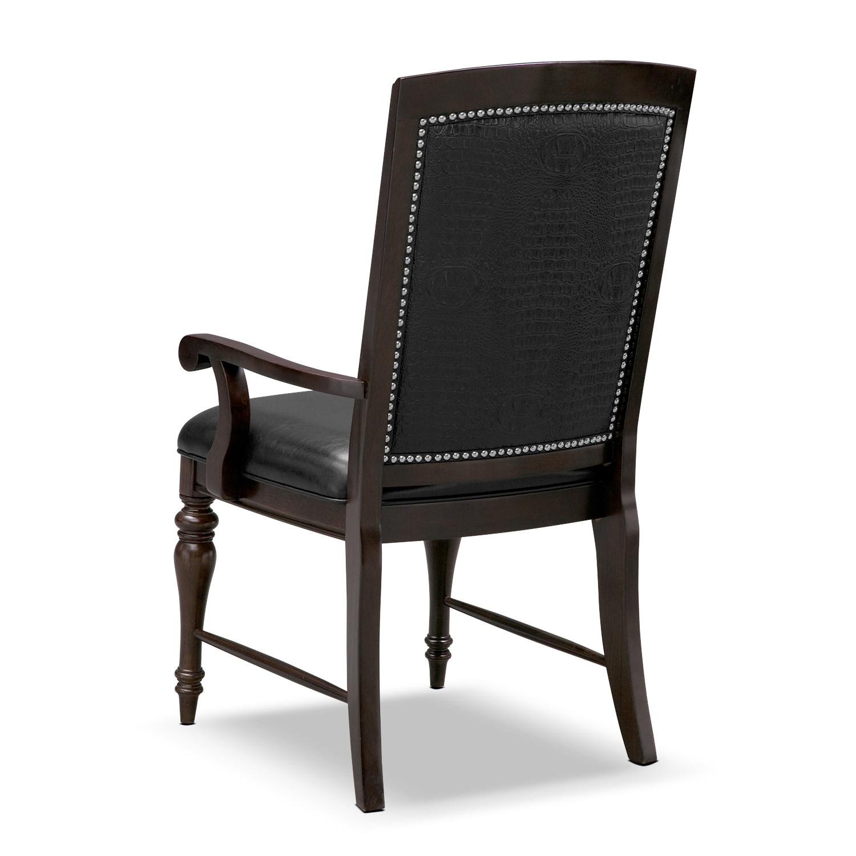 esquire arm chair cherry american signature furniture