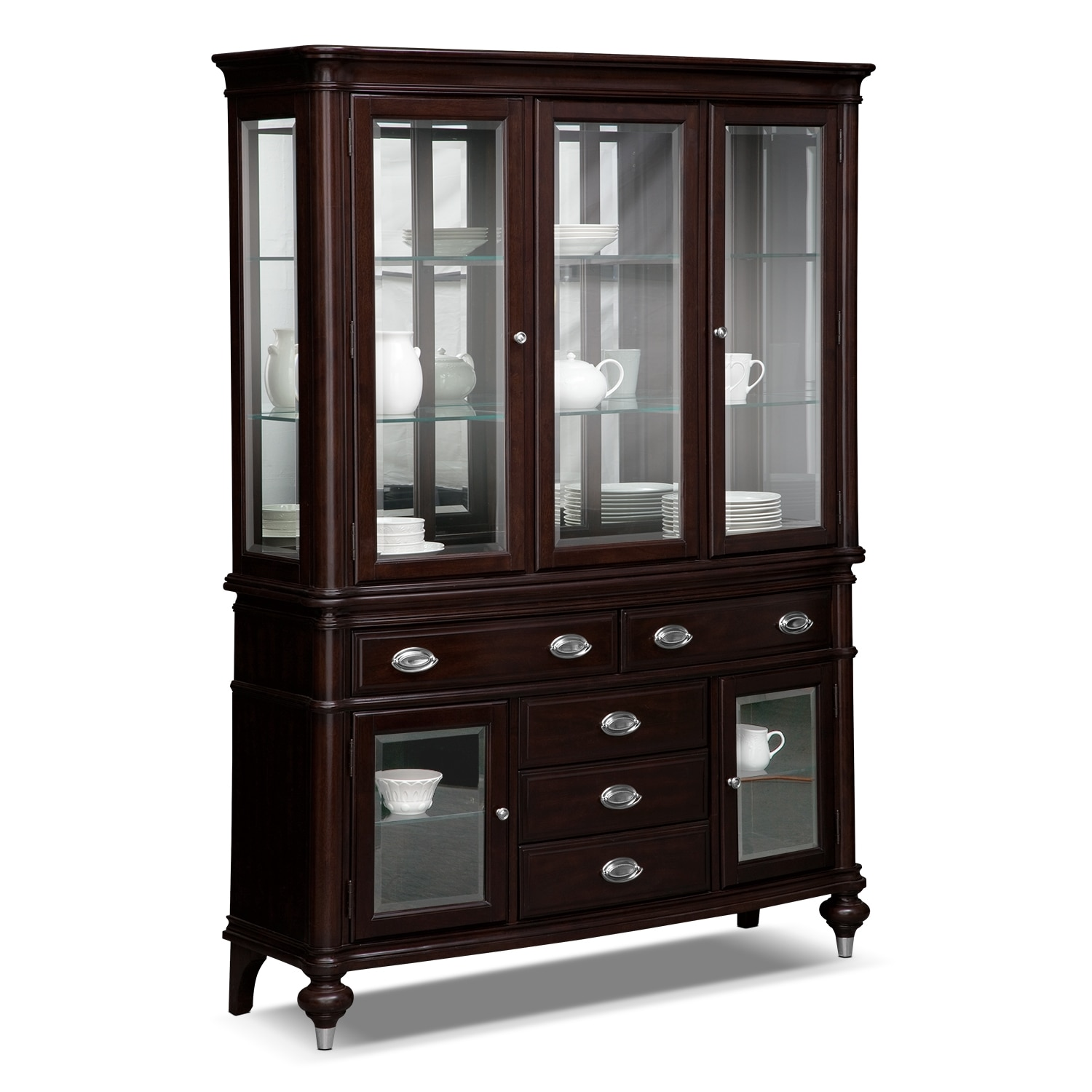 Esquire dining room buffet and hutch value city furniture for Dining room buffet