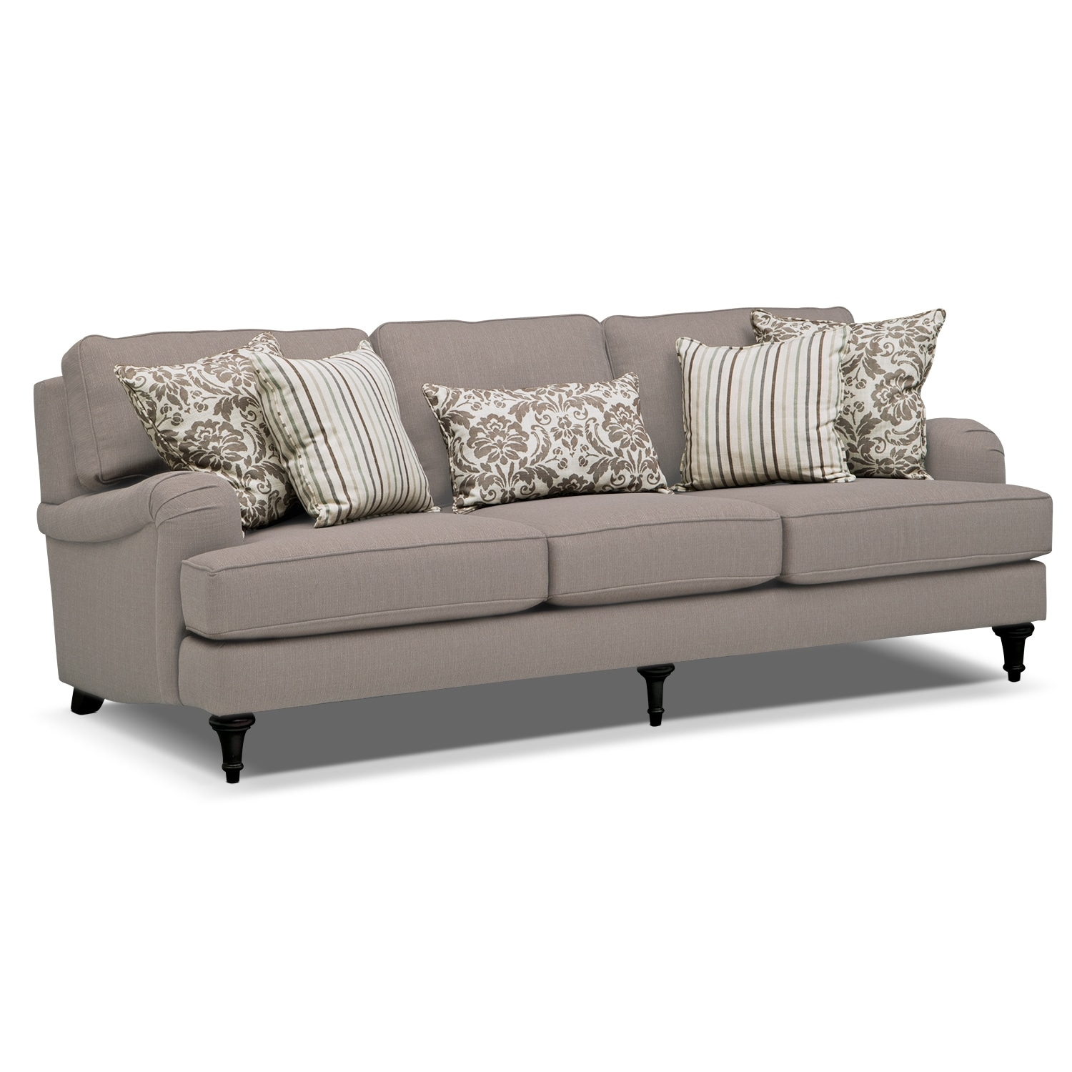 Candice sofa gray value city furniture for Furniture sofa sale