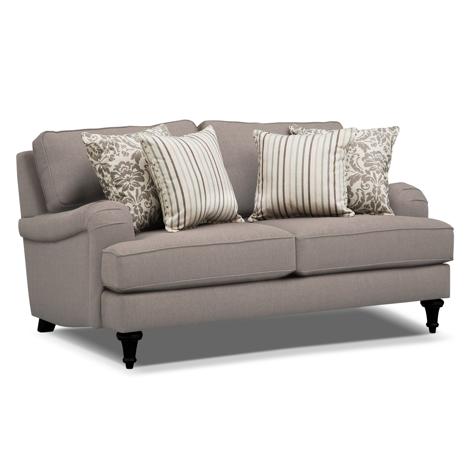 Candice loveseat gray american signature furniture for American signature couch