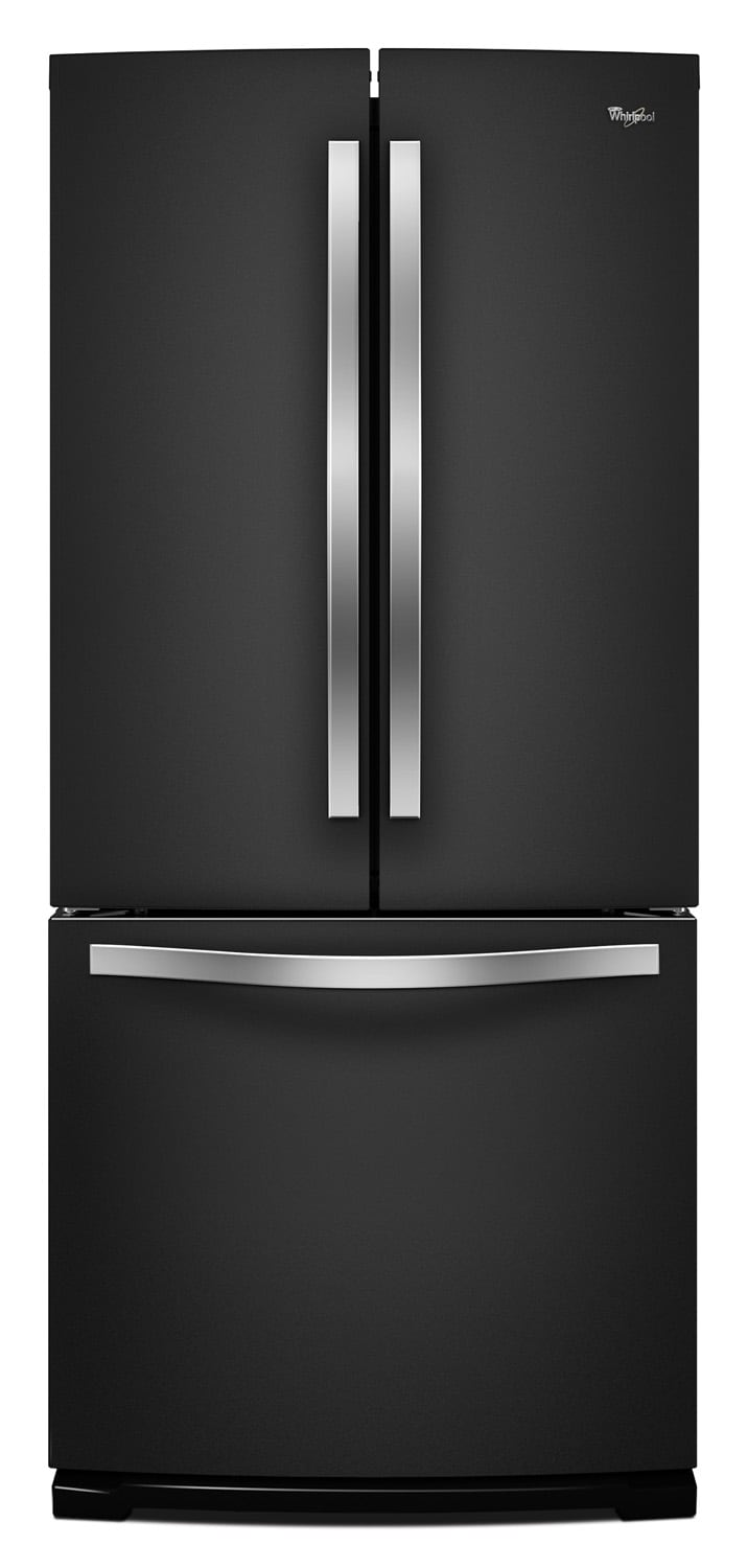 Refrigerators and Freezers - Whirlpool Black French Door Refrigerator (19.5 Cu. Ft.) - WRF560SFYE