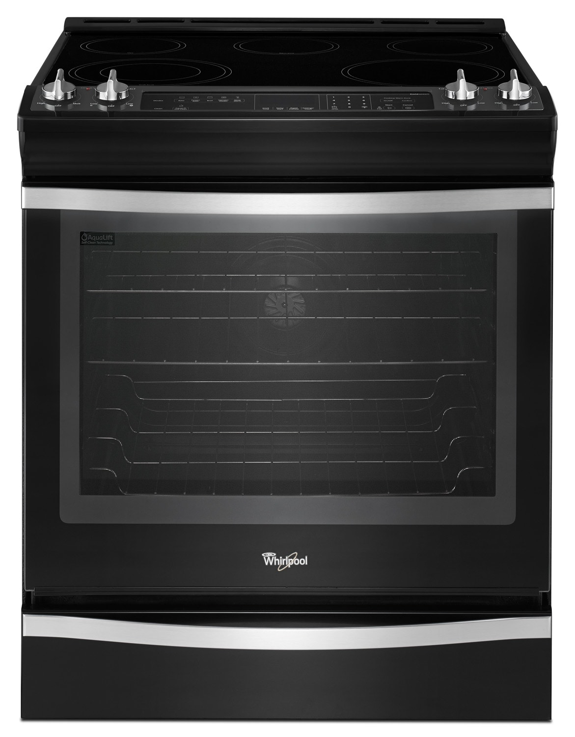 Cooking Products - Whirlpool Black Ice Slide-In Electric Range (6.2 Cu. Ft.) - YWEE760H0DE