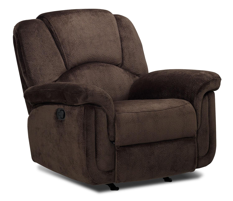 Living Room Furniture - Pitch Glider Rocker Recliner - Espresso