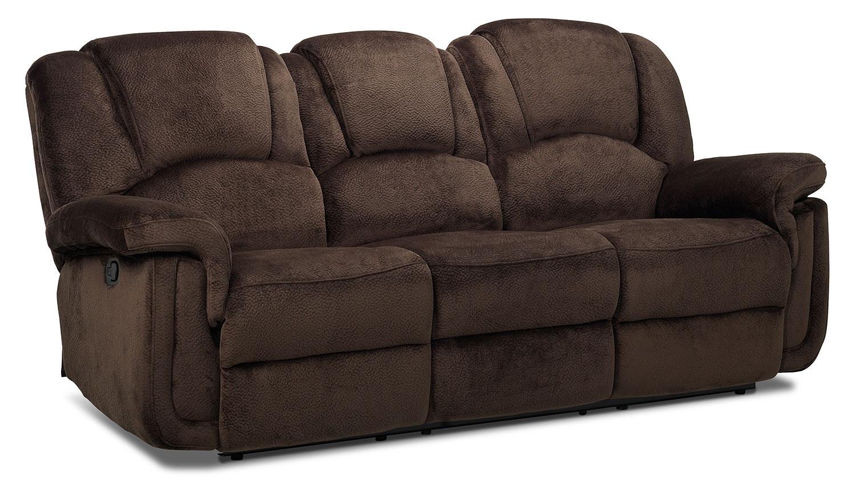 Living Room Furniture - Pitch Reclining Sofa - Espresso