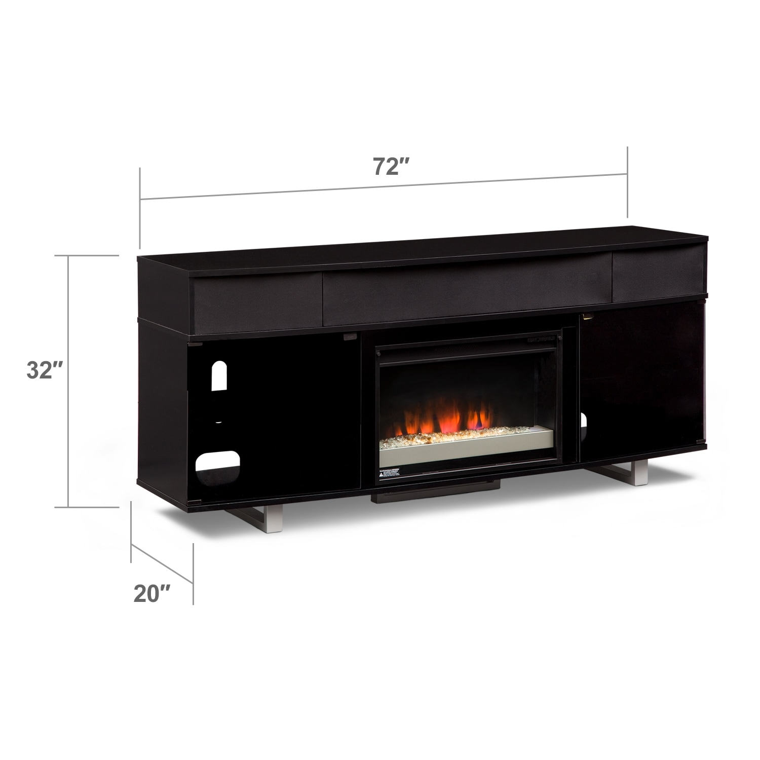 Pacer Entertainment Wall Units Fireplace Tv Stand With Sound Bar Value City Furniture
