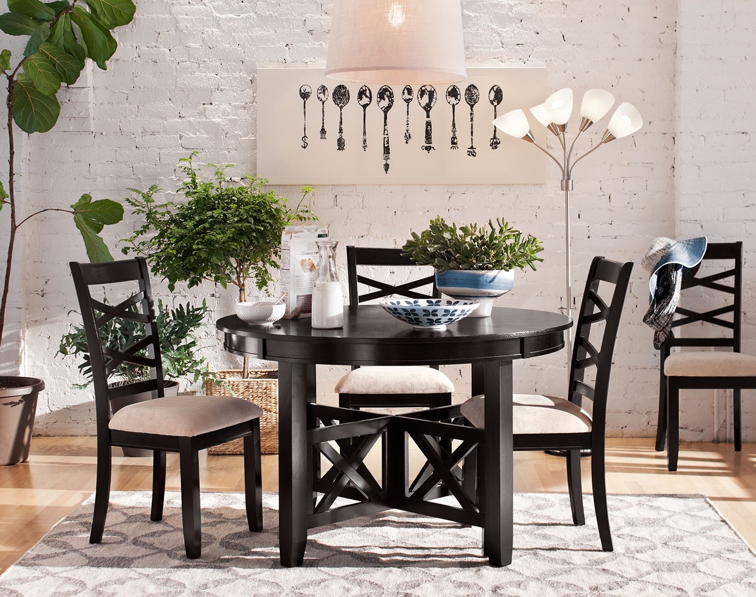 Dining Room Furniture - The Davis Collection - 5 Pc. Dinette