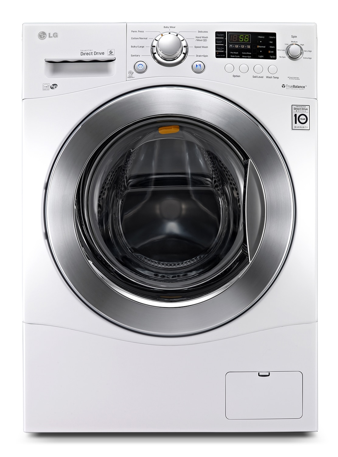Washers and Dryers - LG Appliances White Front-Load Washer (2.6 Cu. Ft.) - WM1377HW