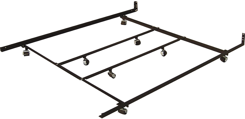 queenking low profile rugroller bedframe - Metal King Bed Frame