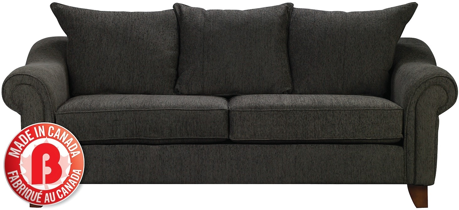 reese chenille sofa dark grey the brick