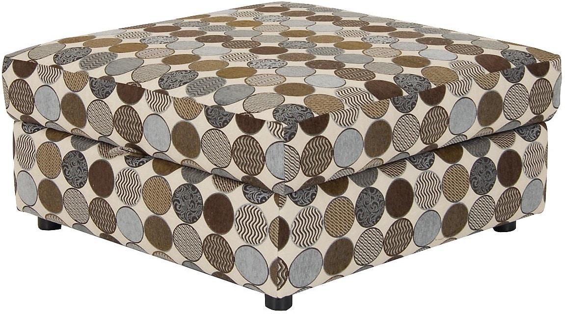 Living Room Furniture - Designed2B Fabric Square Storage Ottoman - Spa