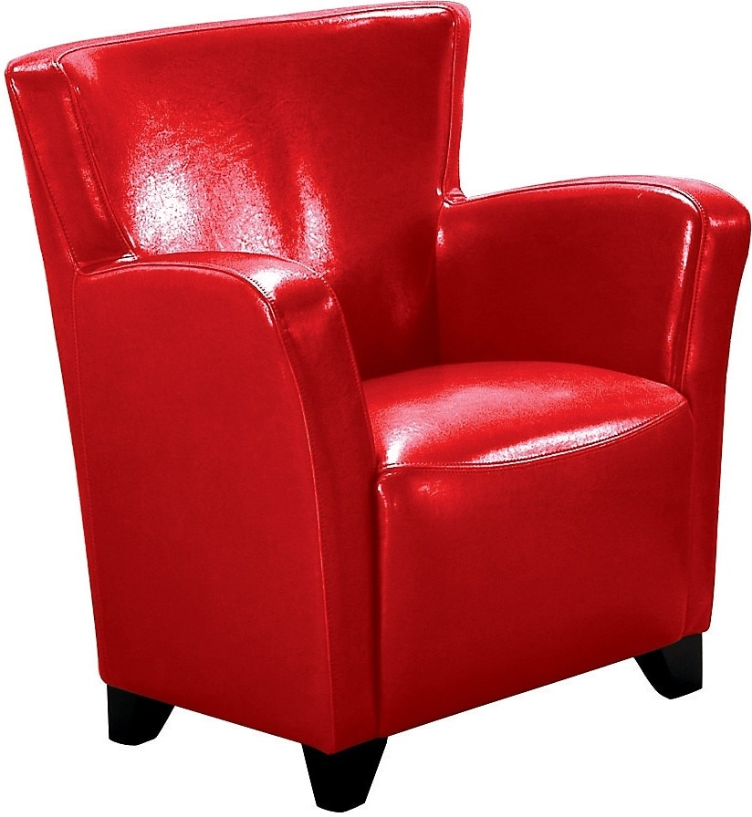 Living Room Furniture - Bonded Leather Chair - Red