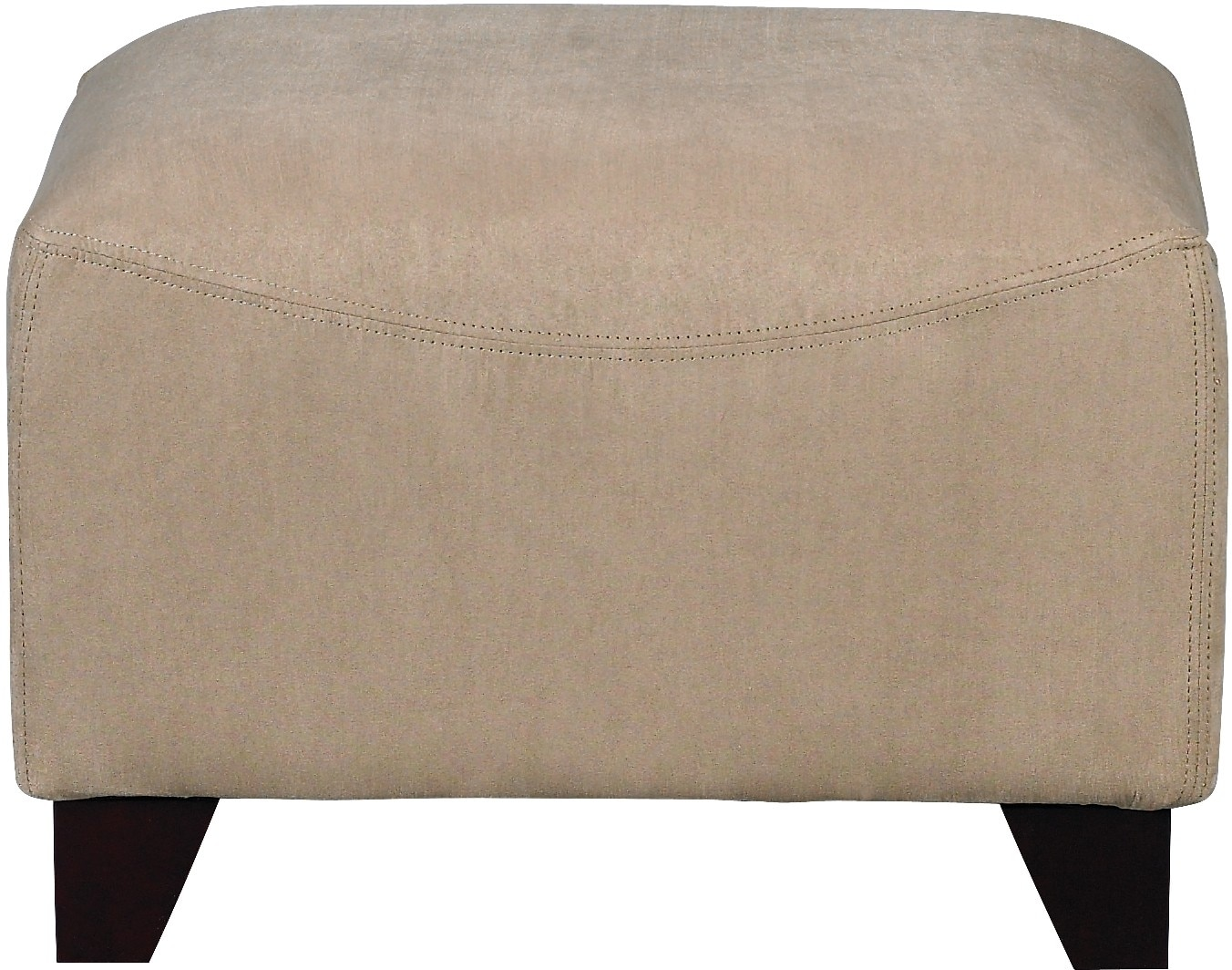 Living Room Furniture - Mocha Microsuede Ottoman