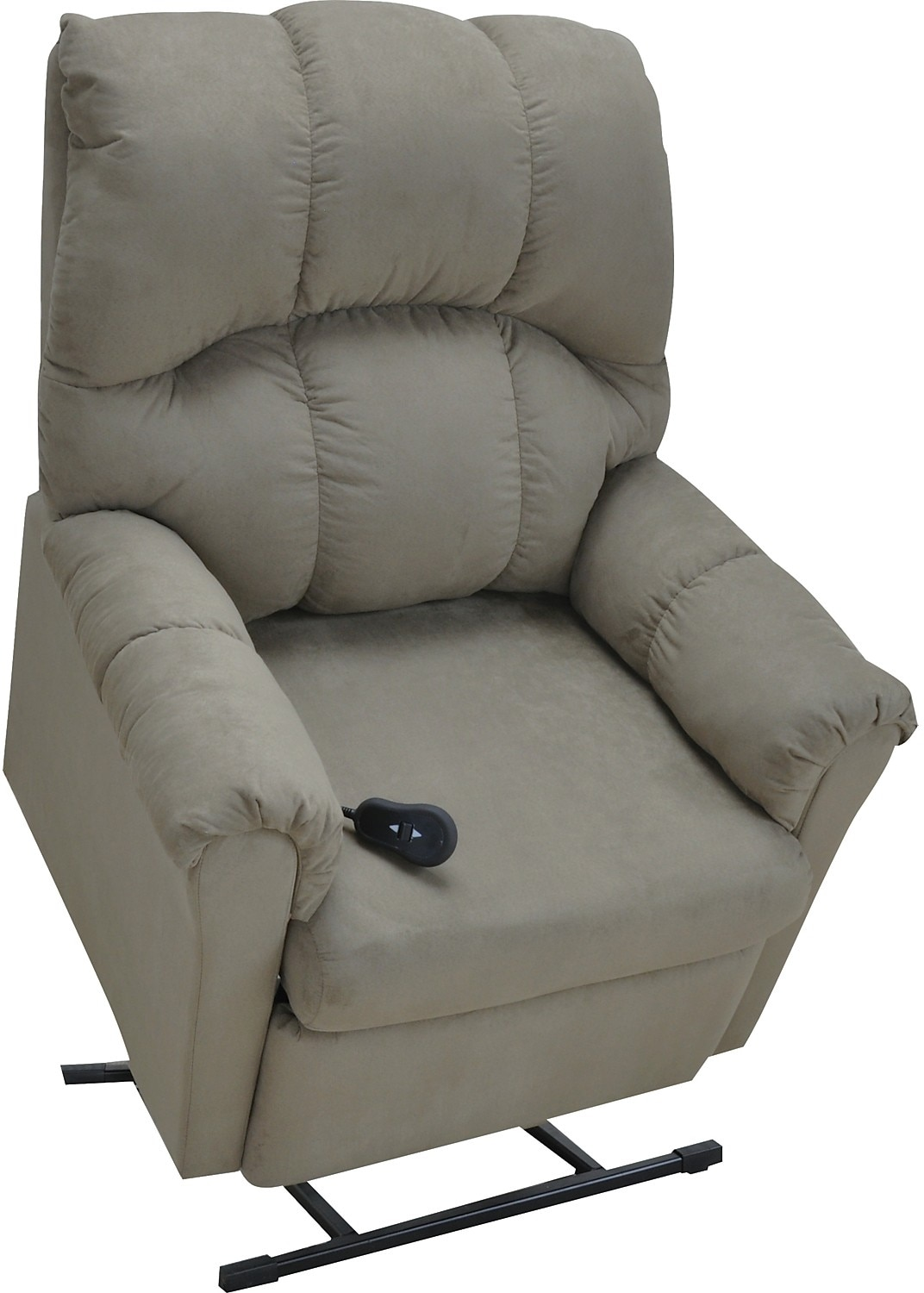 Living Room Furniture - Microsuede Power Lift Recliner - Sage