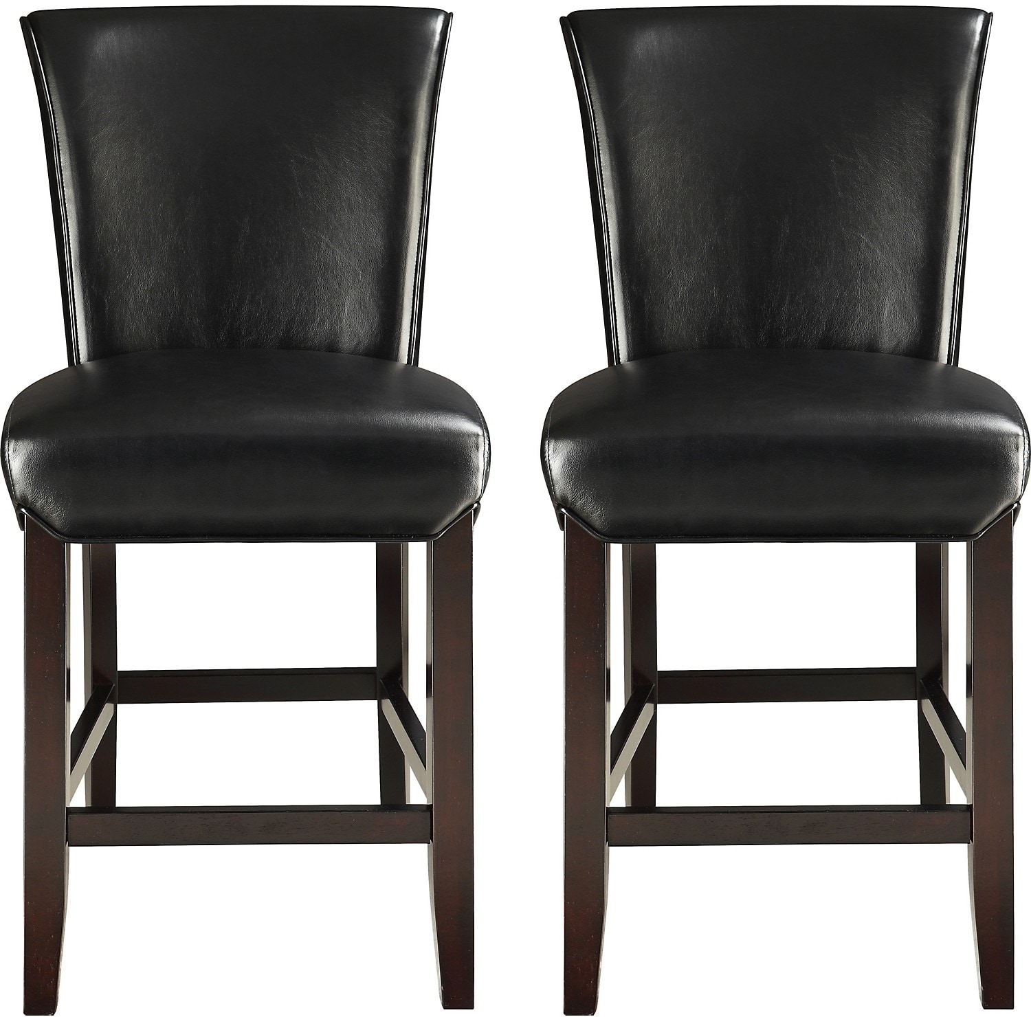 Dining Room Furniture - Brogan Counter-Height Dining Stool Set of 2 – Black