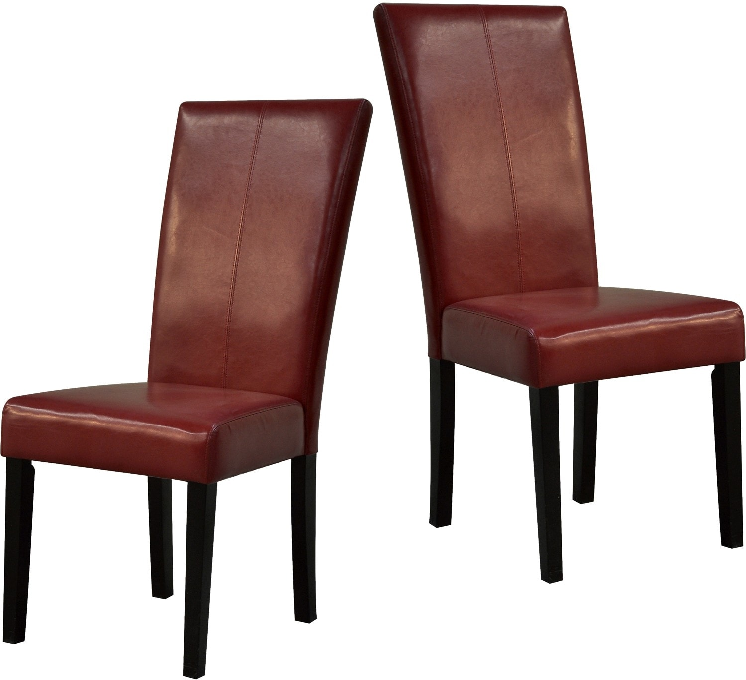 dining room furniture red dining chairs package of two