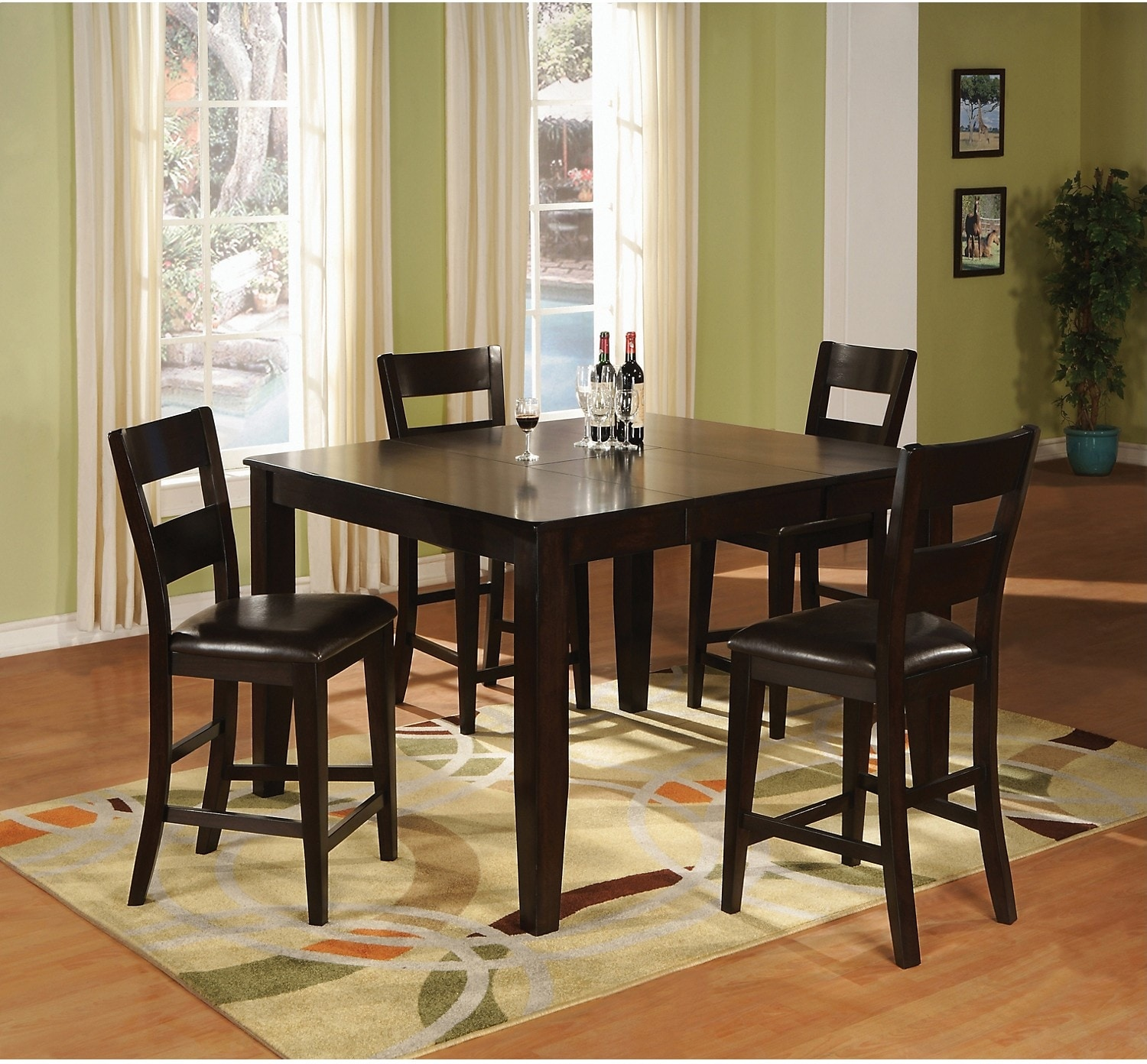 Dining Room Furniture - Dakota 5 Piece Counter-Height Dining Package