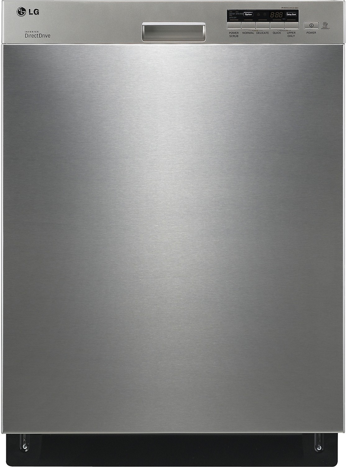 "Clean-Up - LG 24"" Semi-Integrated Dishwasher with Flexible EasyRack™ System - Stainless Steel"