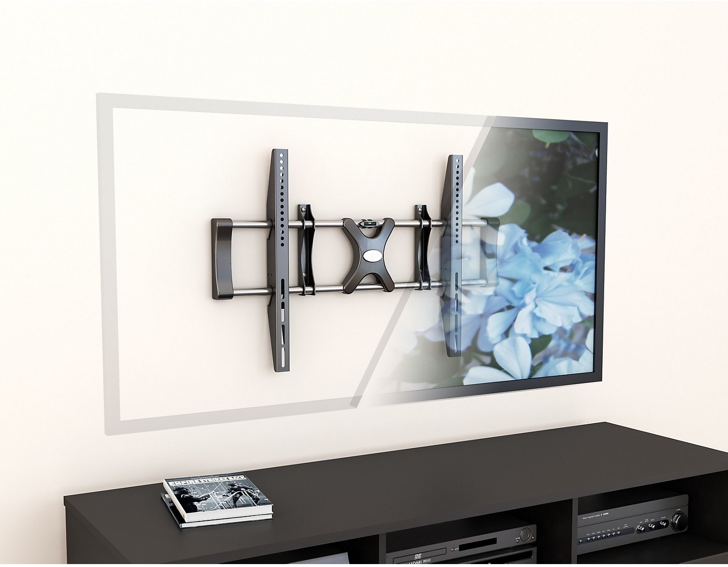 "CorLiving Adjustable 36"" - 55"" Fixed Flat Panel TV Wall Mount – Black"