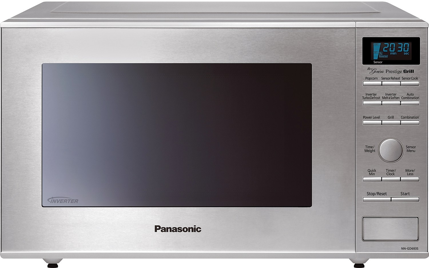 Cooking Products - Panasonic 1.1 Cu. Ft. Countertop Microwave with Grill Heater – Stainless Steel
