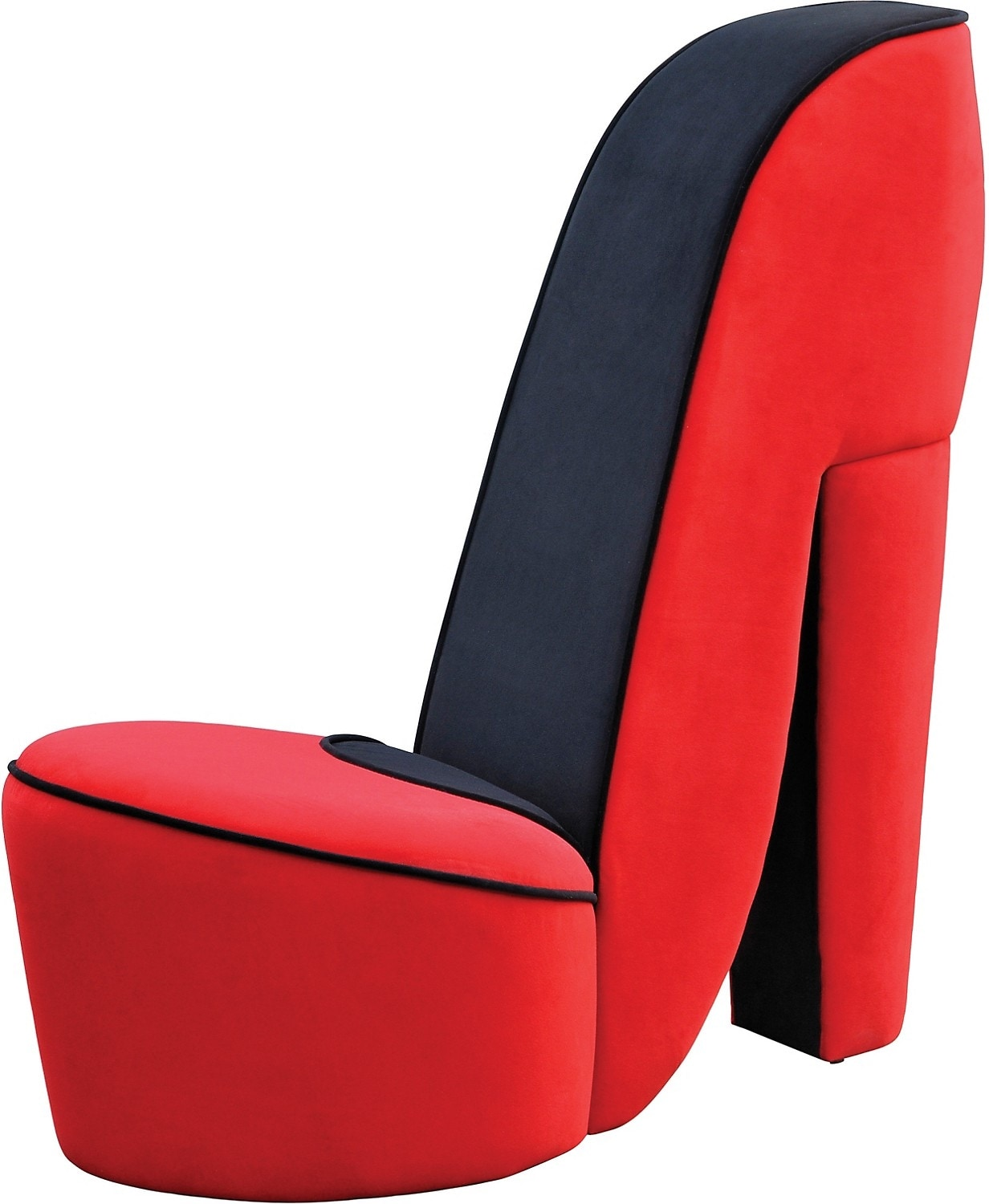 For teens accent and occasional furniture high heel shoe chair red