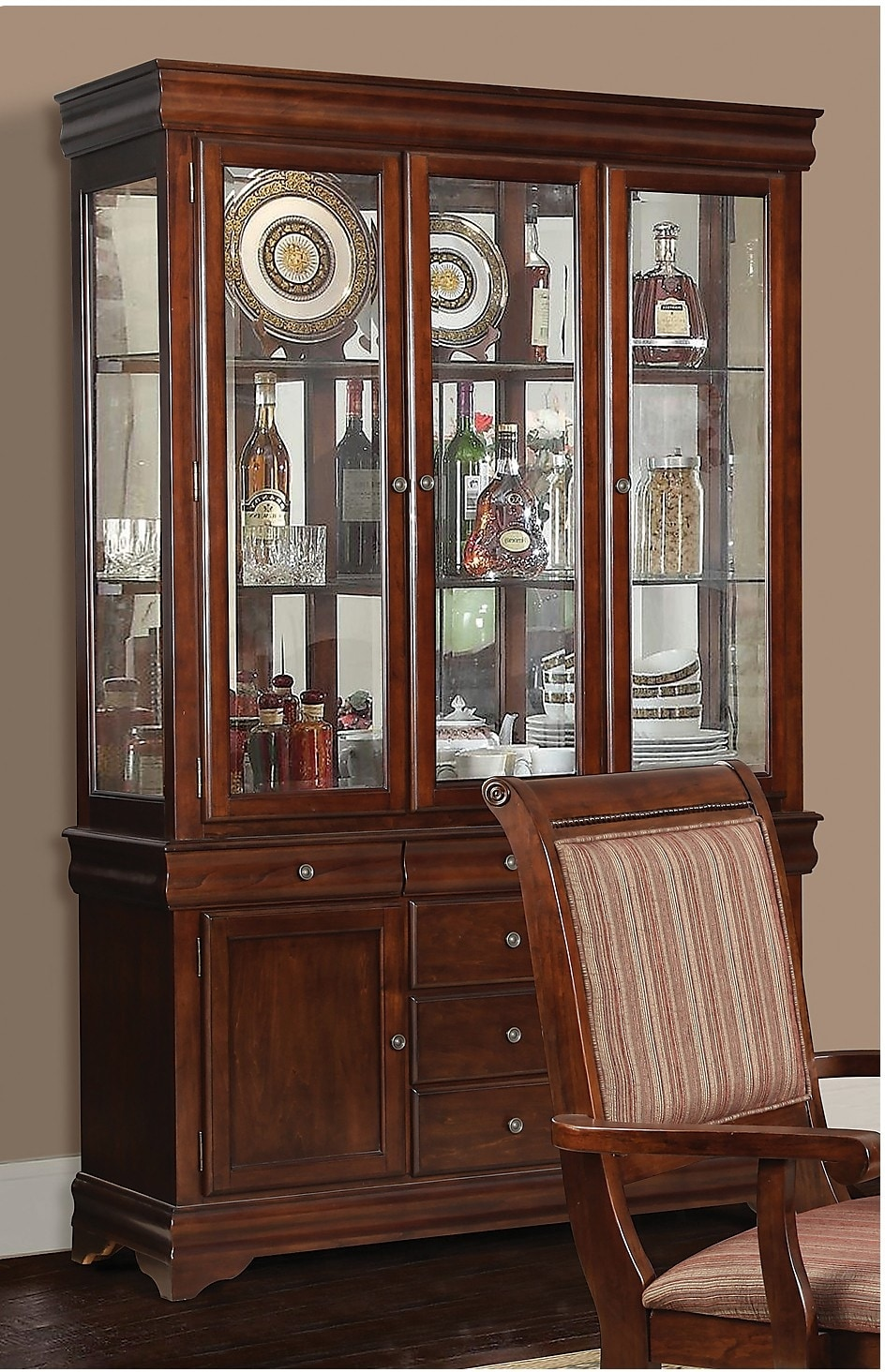 Dining Room Furniture - Louis Buffet and Hutch Package
