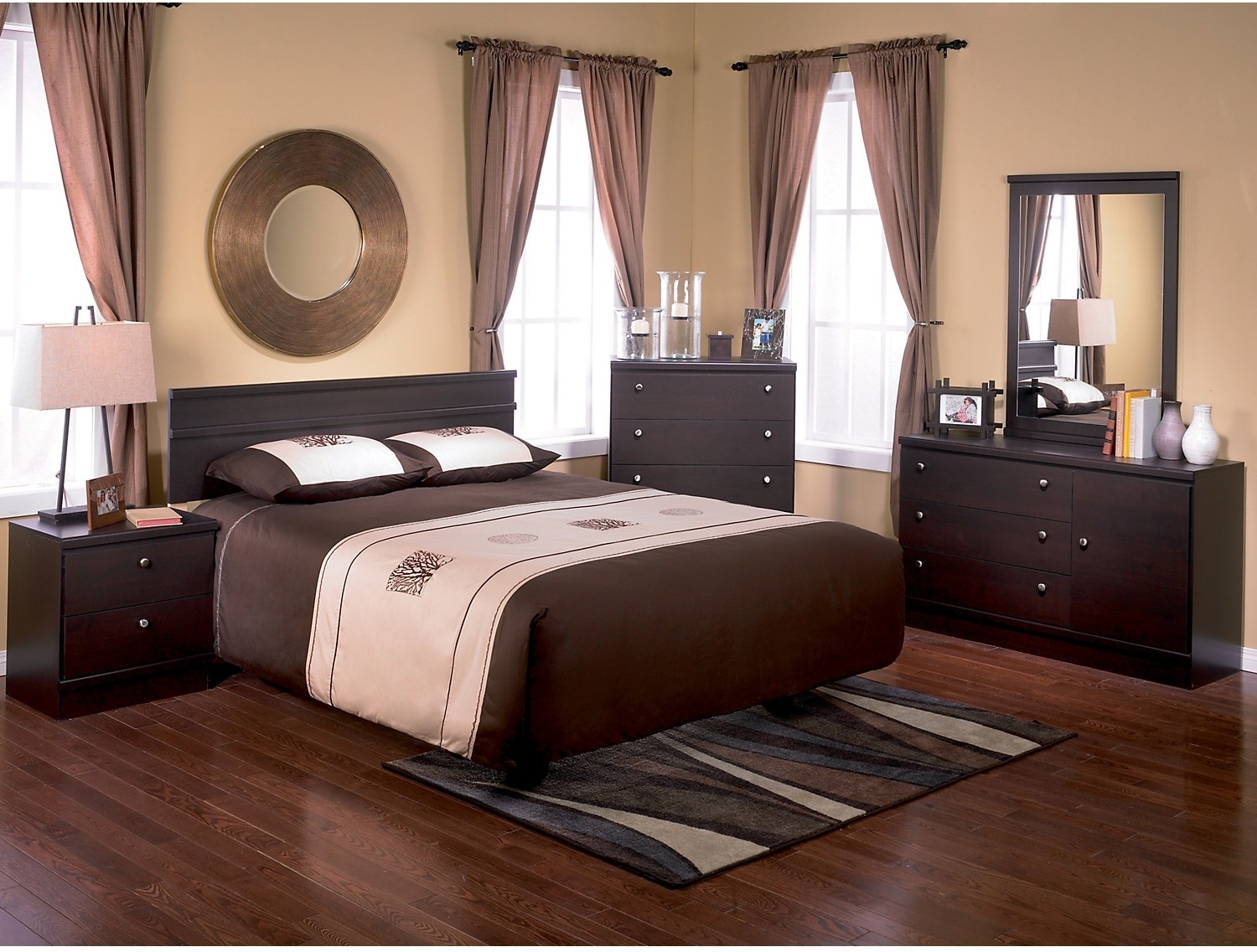 Loft 4 piece full queen bedroom package the brick - Cheap bedroom furniture packages ...
