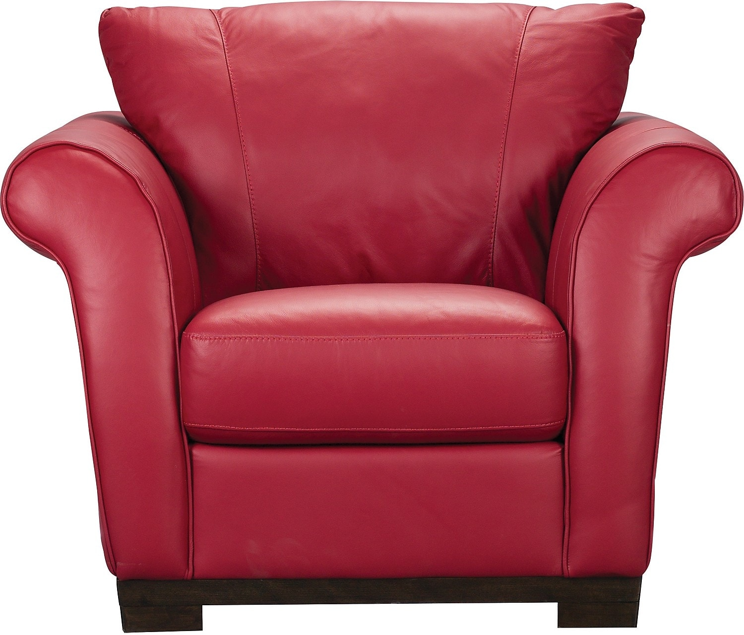 Living Room Furniture - Layla Genuine Leather Chair – Red