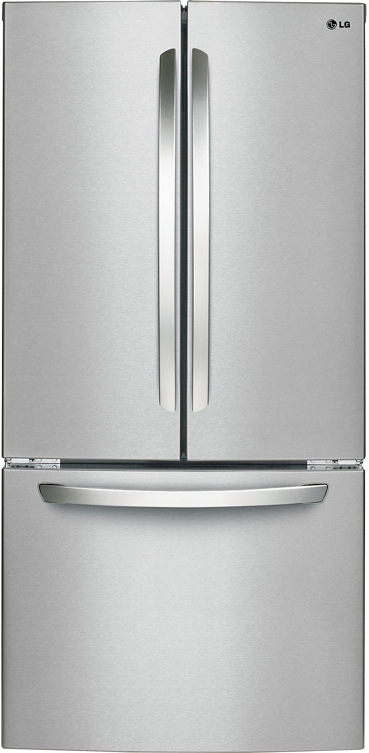 Refrigerators and Freezers - LG 24 Cu. Ft. French Door Refrigerator with Smart Cooling System – Stainless Steel