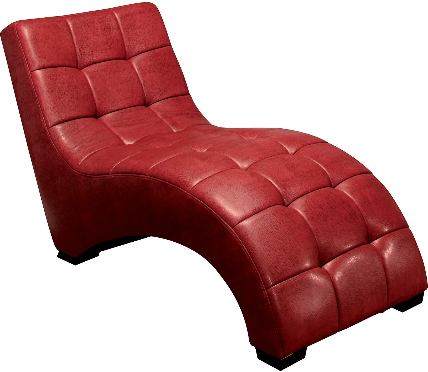 icon curved red chaise  the brick - hover to zoom