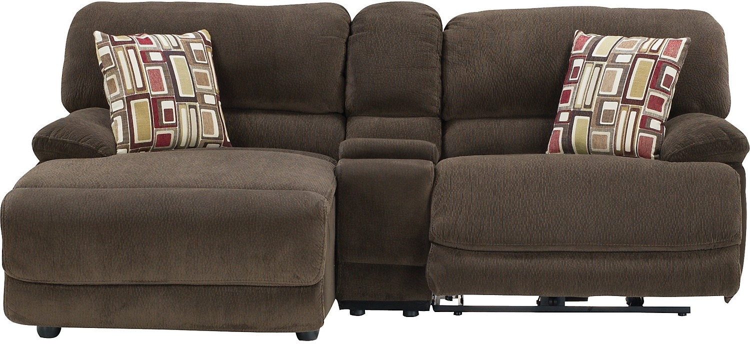 Devon 3-Piece Left-Chaise Sofa w/Console