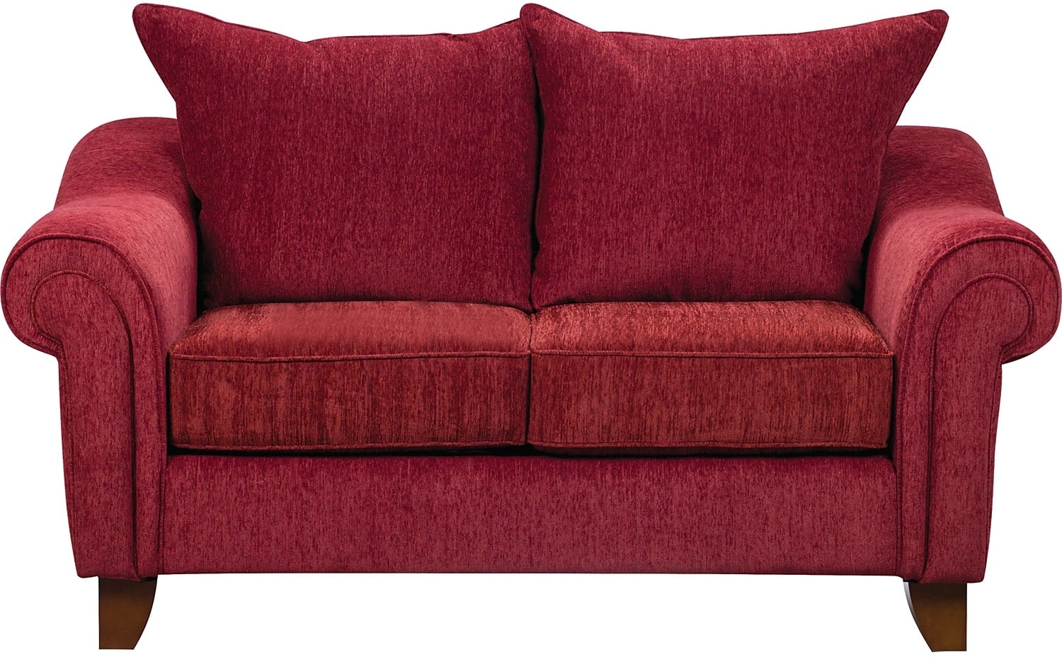 Living Room Furniture - Reese Chenille Loveseat – Red
