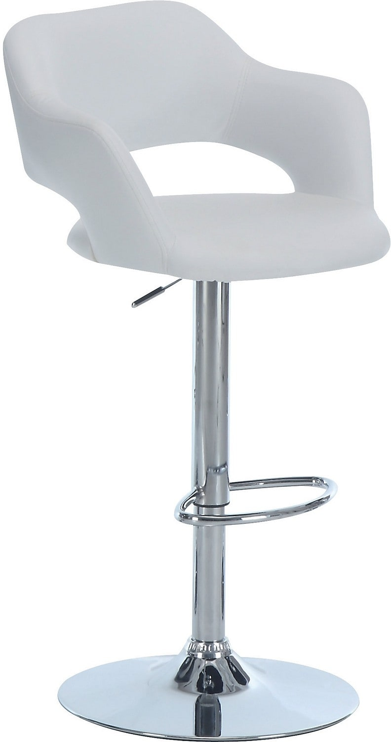 White Hydraulic Bar Stool The Brick