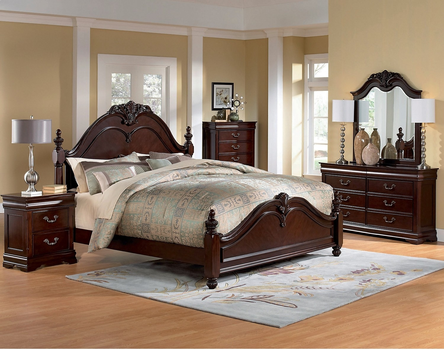 Westchester 6 piece queen bedroom set the brick for Bedroom 6 piece set