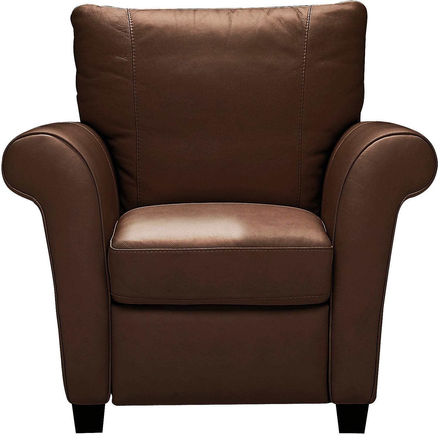 Living Room Furniture - Layla Genuine Leather Reclining Chair – Brown