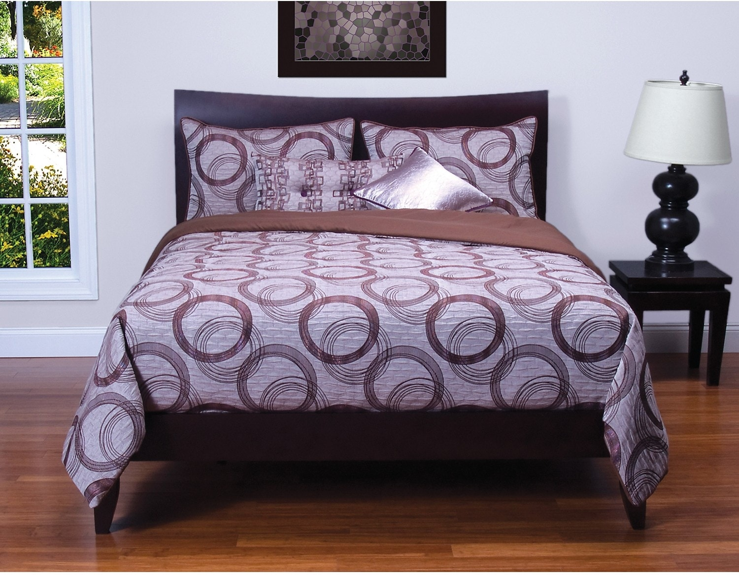 Accent and Occasional Furniture - Brandon 6 Piece Queen Duvet Set