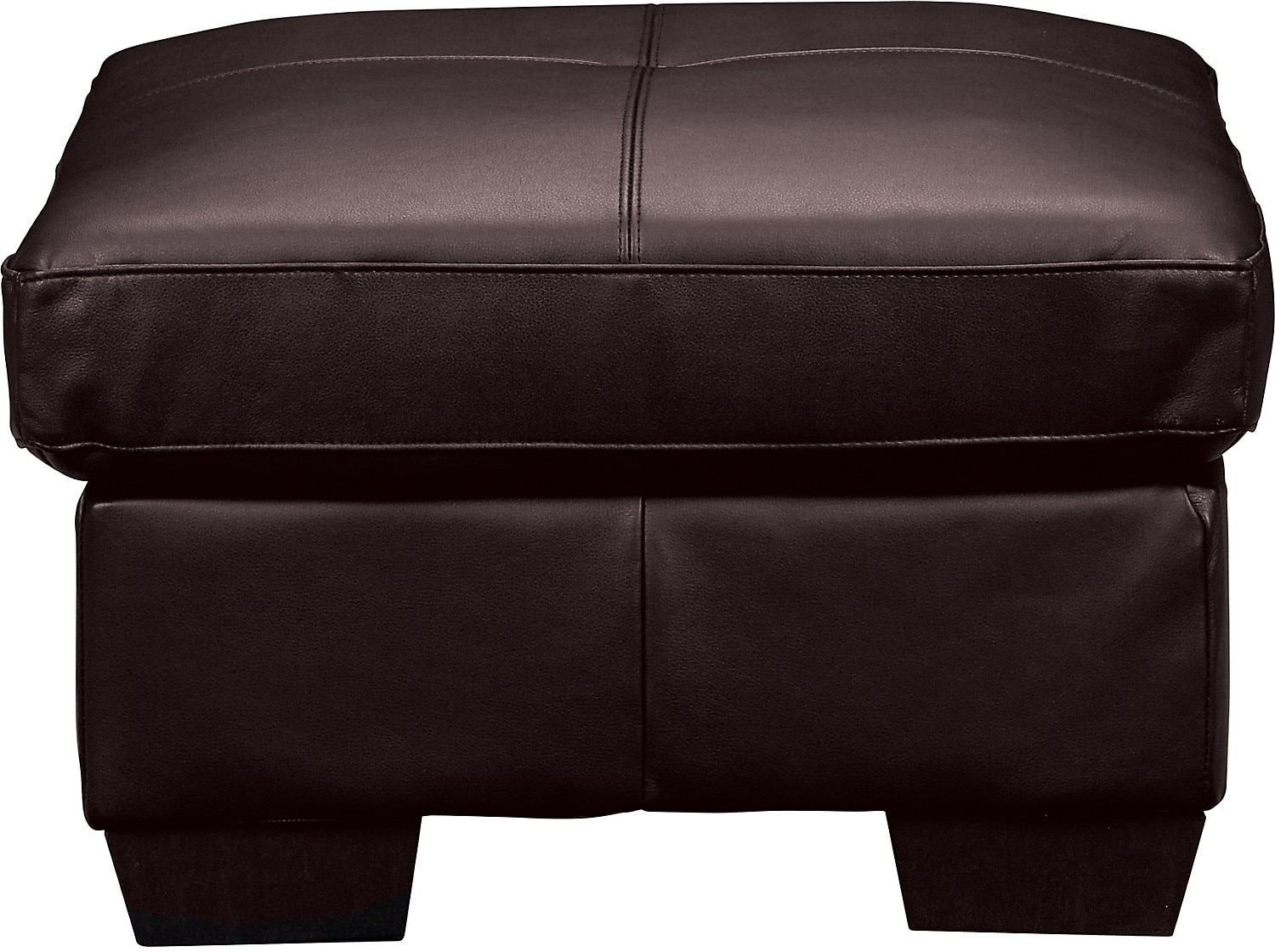 Living Room Furniture - Costa Brown Bonded Leather Ottoman