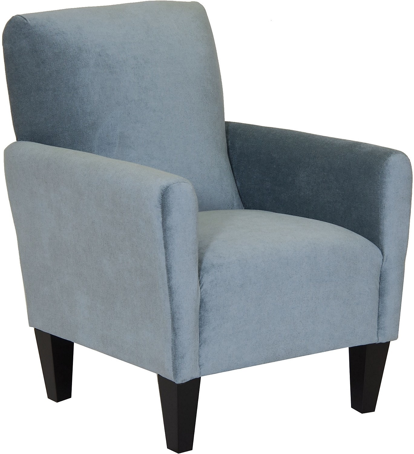 Living Room Furniture - Designed2B Chenille Accent Club Chair - Breeze