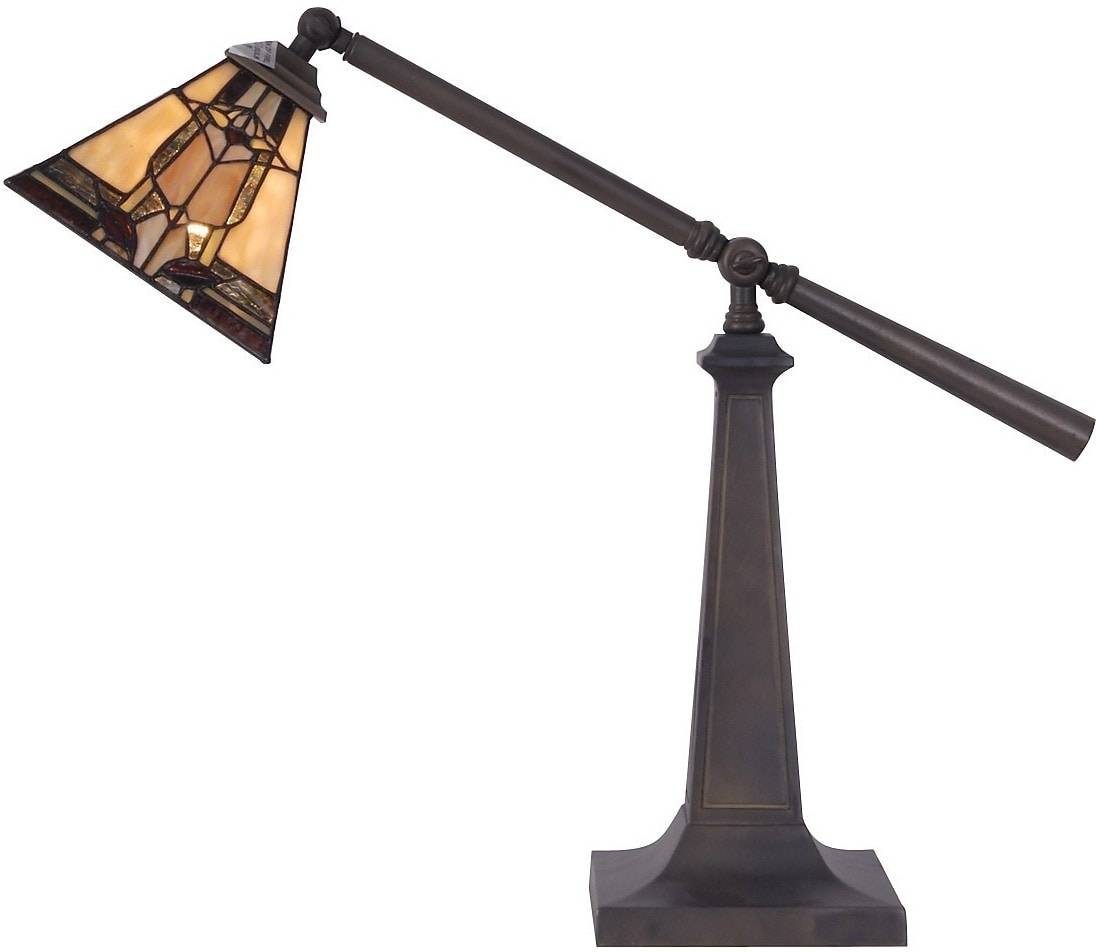 Marlow Task Table Lamp with Stained Glass Shade