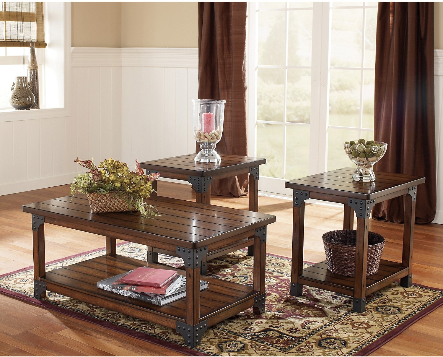 Murphy 3Piece Coffee and Two End Tables Package The Brick