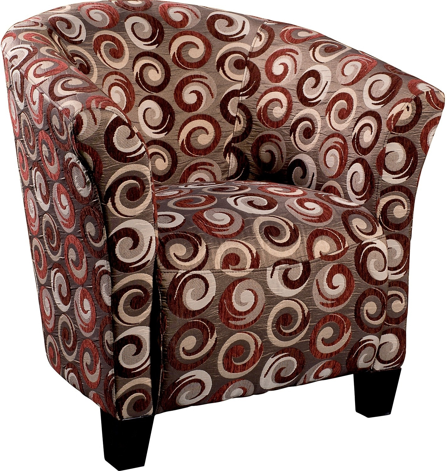 Living Room Furniture - Wyatt Accent Fabric Tub Chair