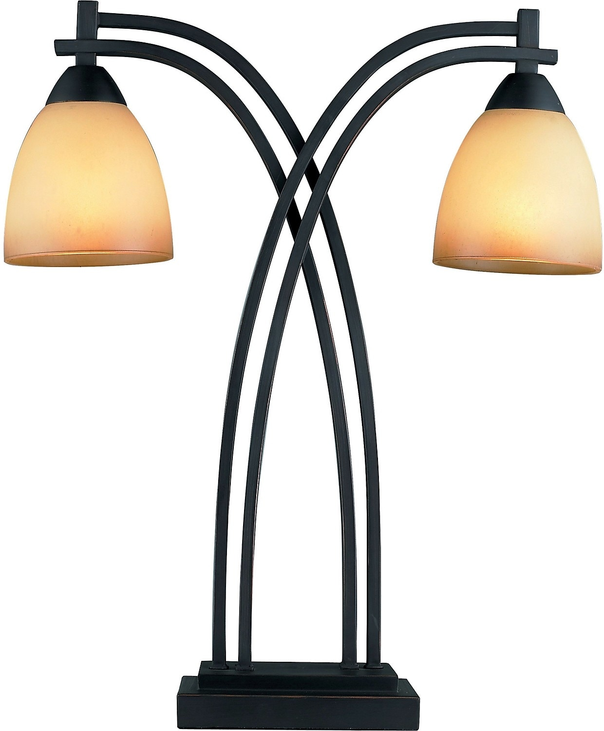 Home Accessories - Street Light 2-Light Table Lamp with Glass Shade