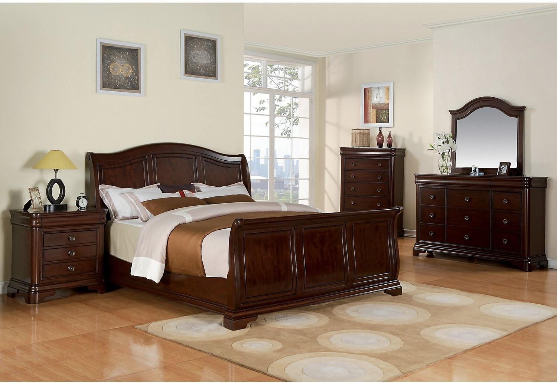 cameron 5 piece queen bedroom set the brick