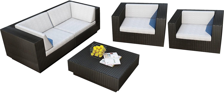 Parkview 5 piece patio sofa set black the brick - The brick sofa sets ...